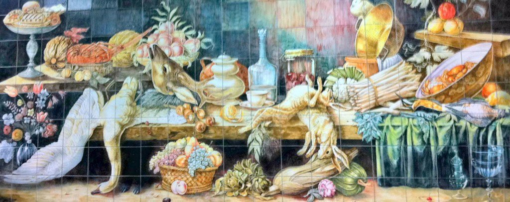 Mural in the Kitchen at the Ecole Ritz Escoffier