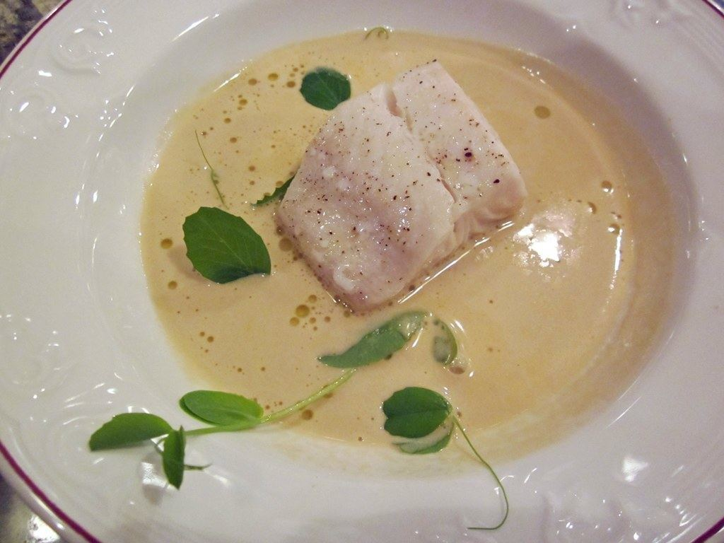Seared Vancouver Island Sable Fish Prawn and crab bisque | TheCulinaryTravelGuide.com