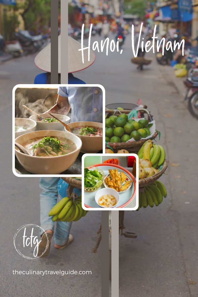 Collage showing the best street food in vietnam