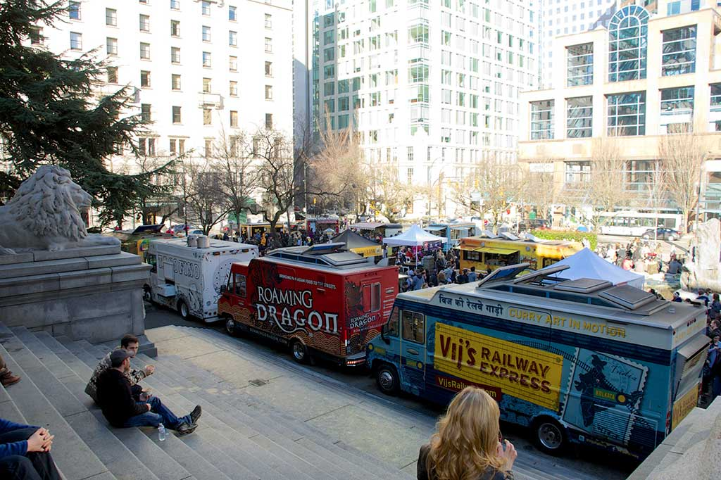 Food Truck City in Vancouver, BC