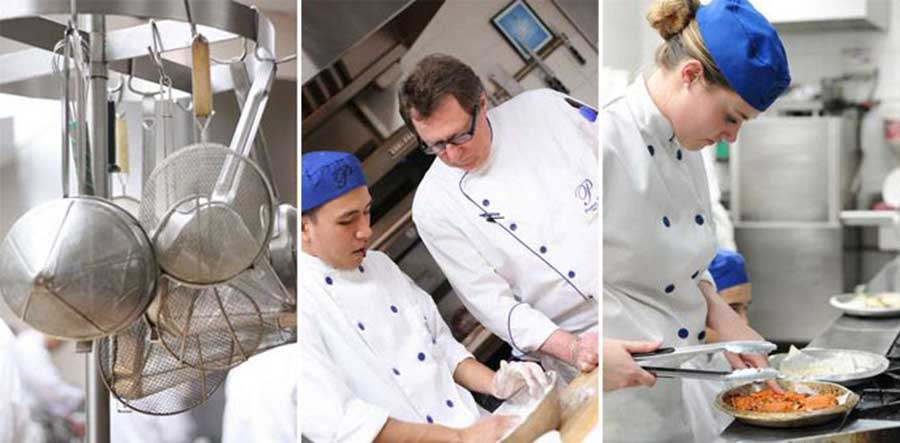 Students at the Pacific Institute of Culinary Arts in Vancouver, BC