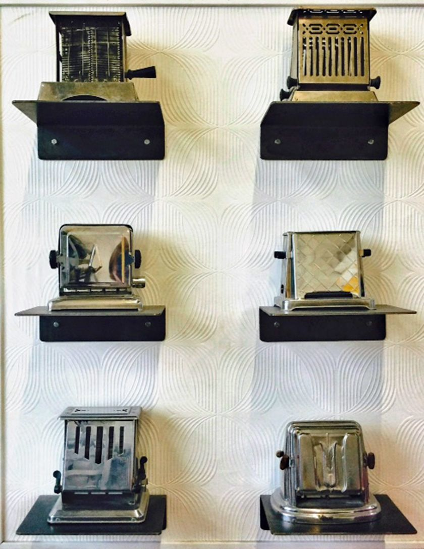 Collection of antique toasters