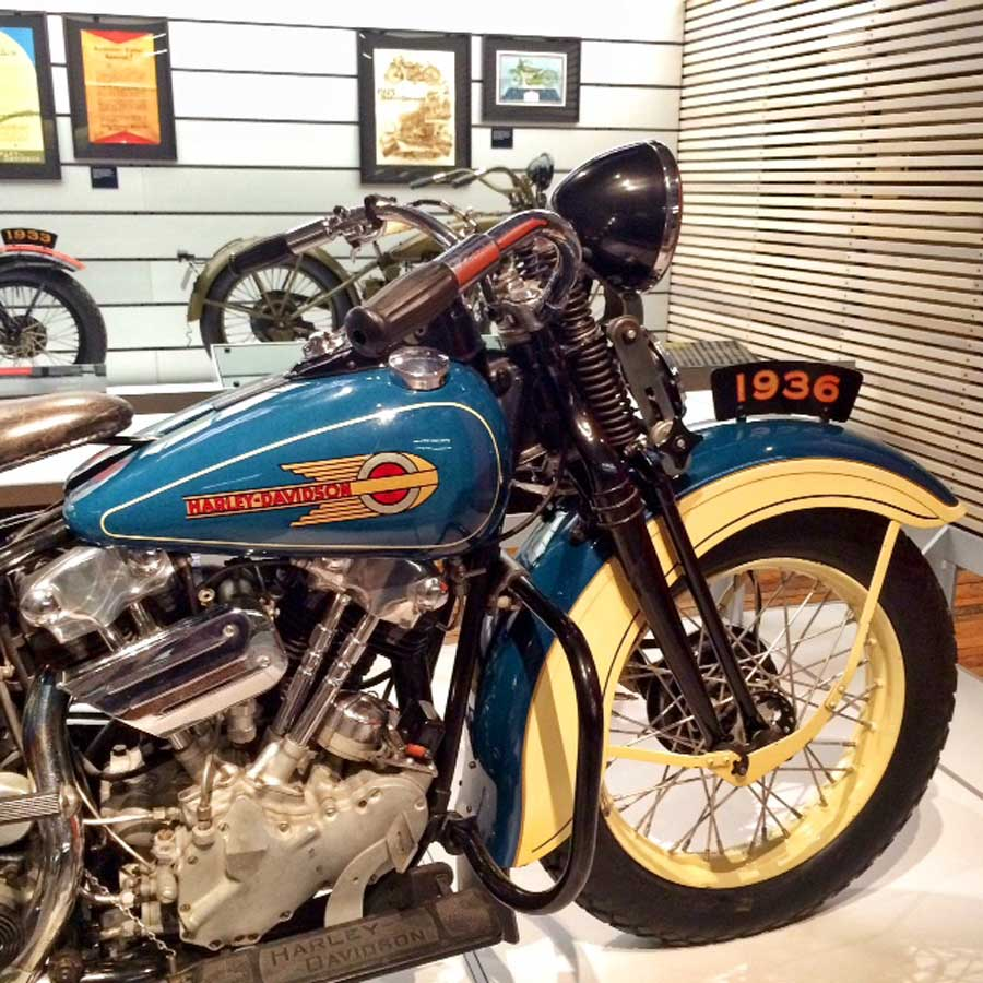 At the Harley Davidson Museum, Milwaukee | TheCulinaryTravelGuide