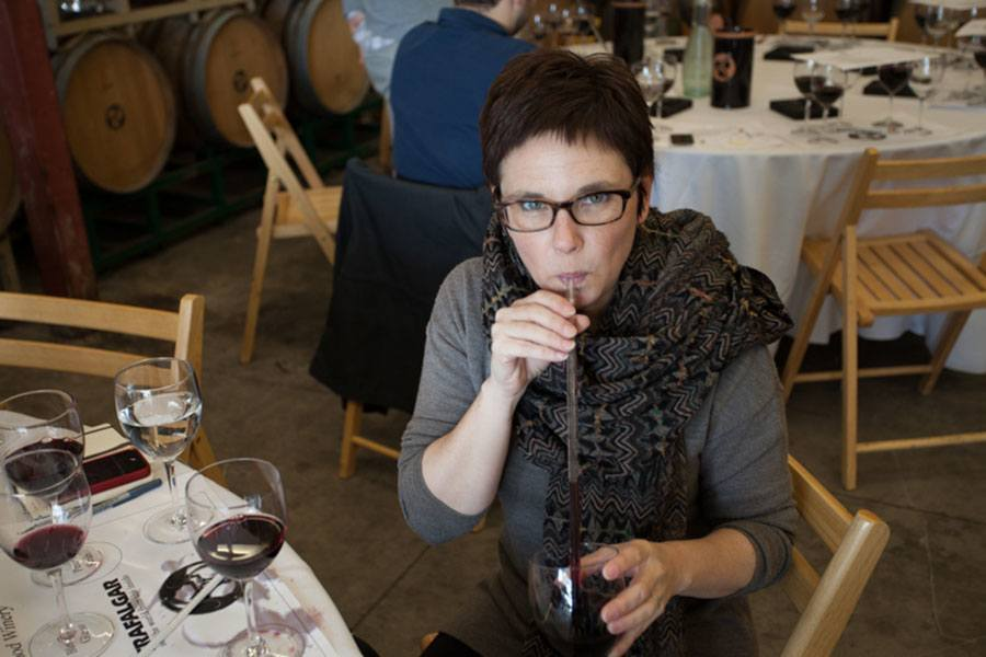 Andie Fisher Blending Wine in Sonoma | TheCulinaryTravelGuide.com