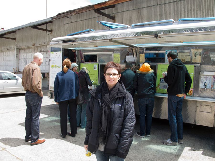 Andi Fisher at Food Truck in San Francisco | TheCulinaryTravelGuide