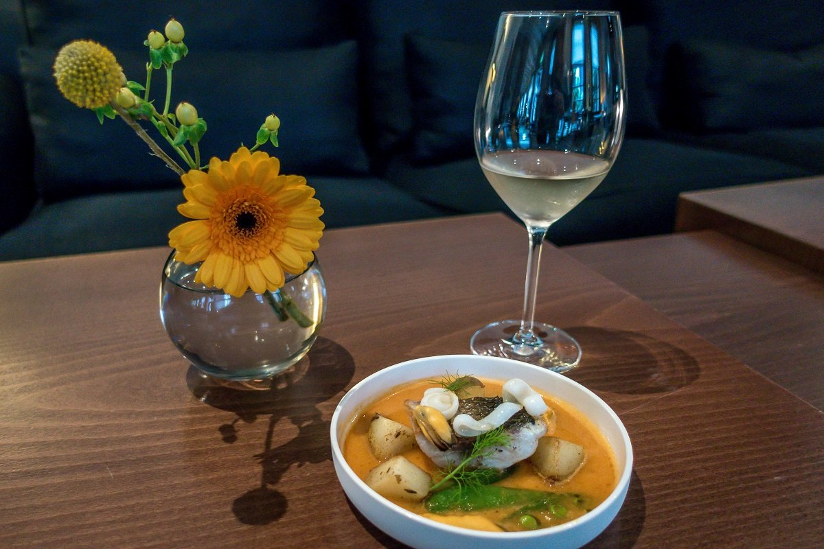High wine course at The Dylan, Amsterdam (photo by Travel Addicts Lance & Laura Longwell)