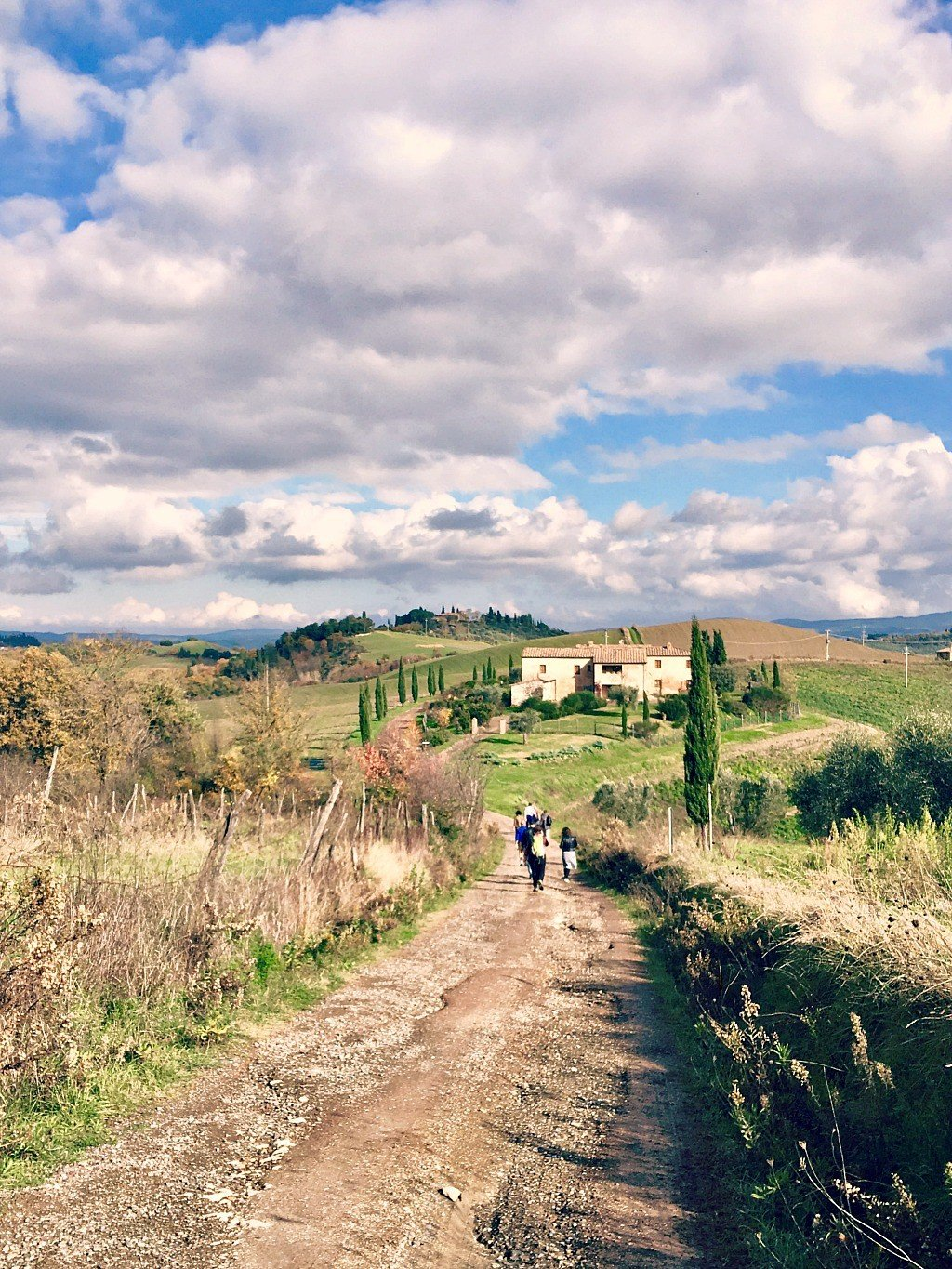 Hiking in the Tuscan countryside