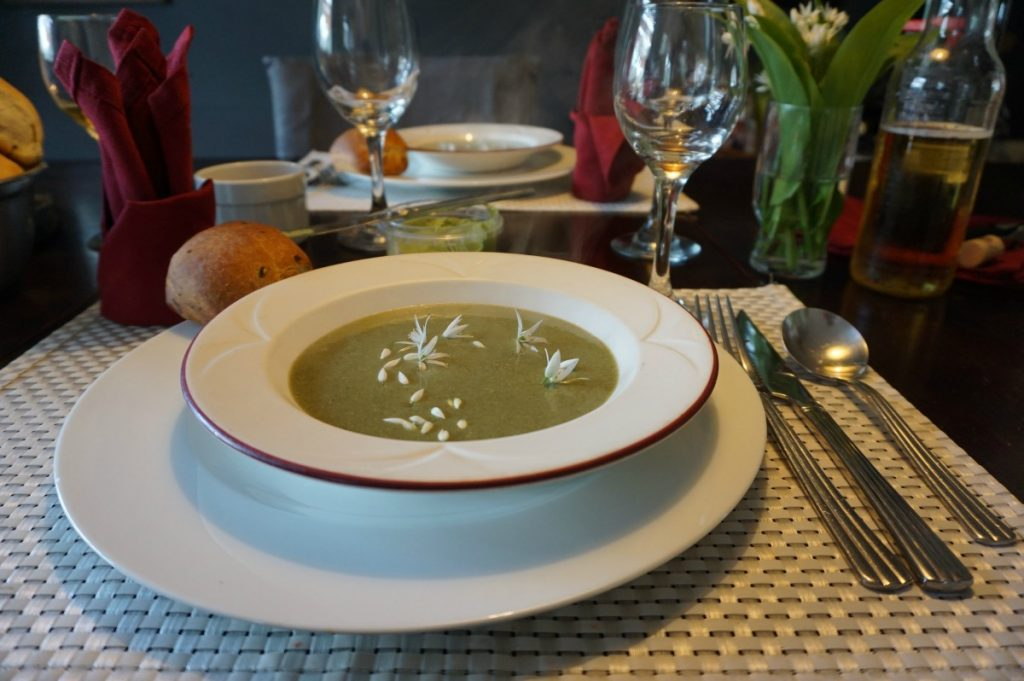 soup served as part of a unique dining experience in Ireland