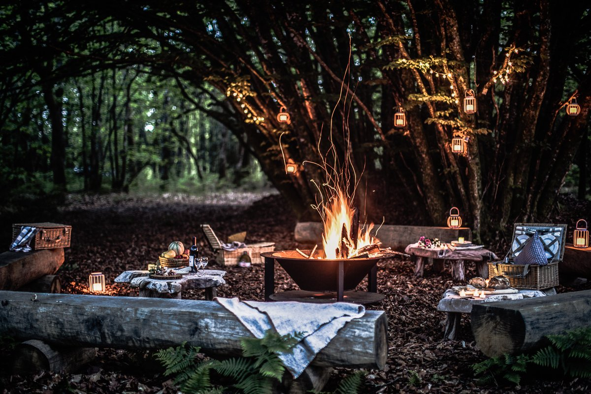 France Food Experiences - Barbecue in The Forest at Domaine des Etangs