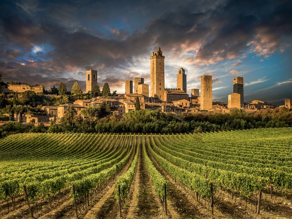 Vegan Travel Tours in Italy - visit San Gimignano in Tuscany