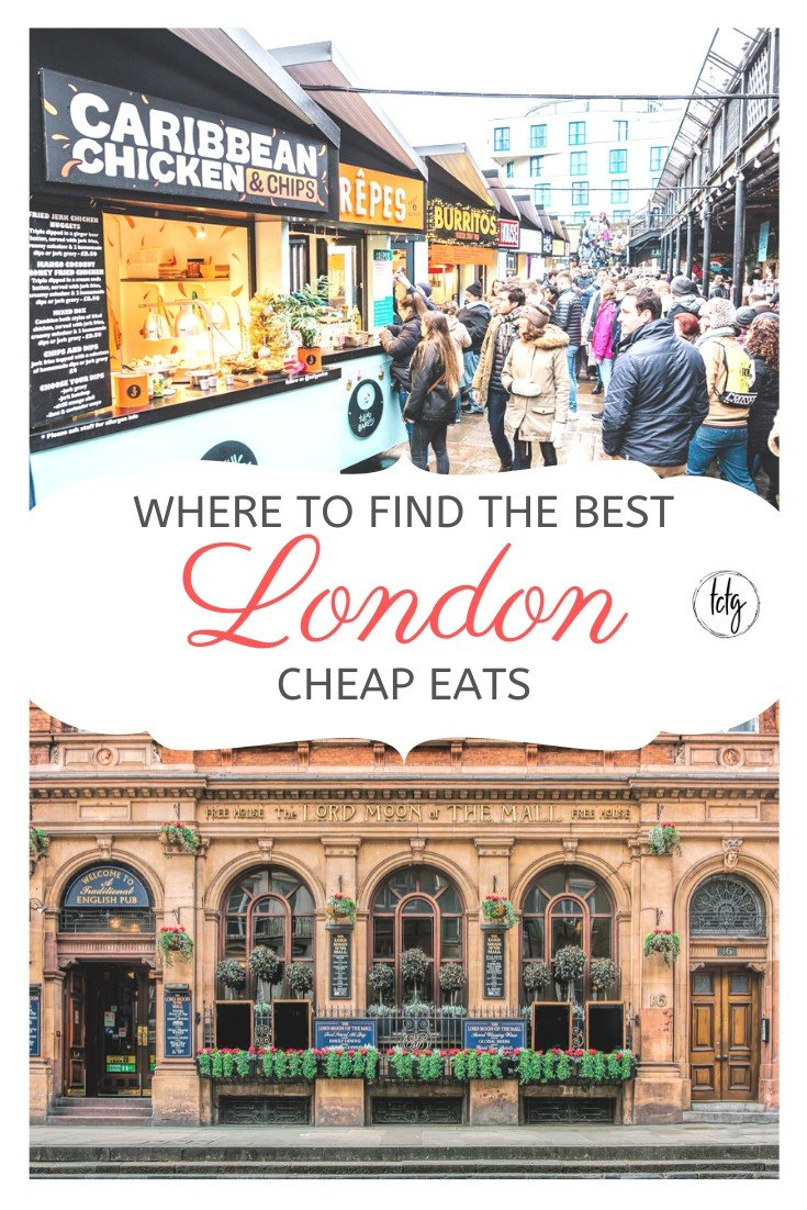 Pinterest Graphic for best cheap eats in London
