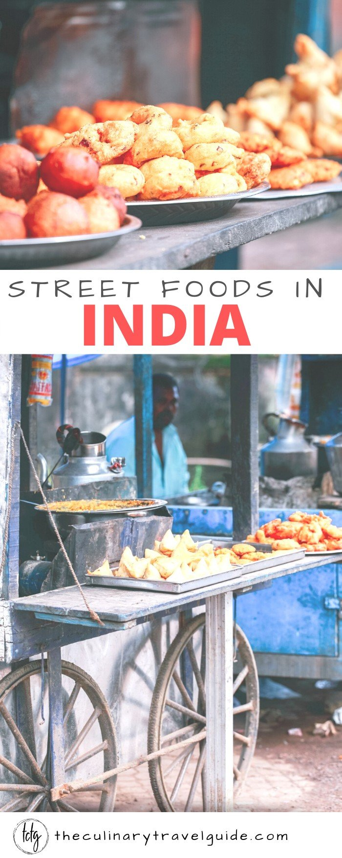 Street food cart in India